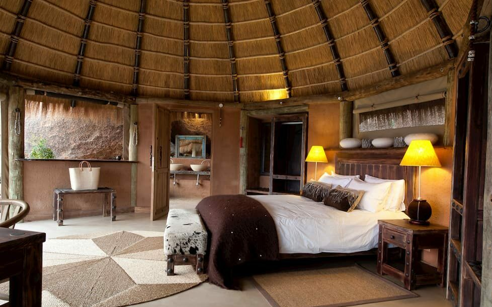 Inside the rooms at Camp Kipwe